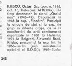 Octav ILIESCU in Octavian Barbosa – Dictionarul artistilor romani contemporani 1976 pag. 243