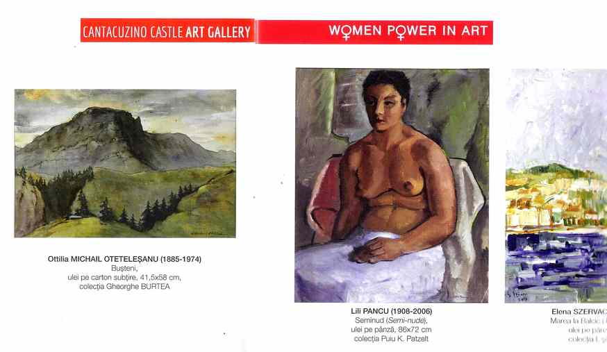 "Lili PANCU in Catalogul Expozitiei ""WOMEN POWER IN ART"" de la Castelul Cantacuzino Busteni 2019"