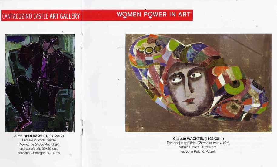 "Clarette WACHTEL in Catalogul Expozitiei ""WOMEN POWER IN ART"" de la Castelul Cantacuzino Busteni 2019"