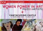 "Coperta Catalog expozitie ""Women Power in Art"" de la Castelul Cantacuzino Busteni"