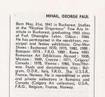 George Paul MIHAIL in PICTORI ROMANI CONTEMPORANI de UAP din RSR, Ed. Artis, 1989 pag. 218