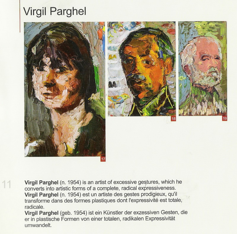 VIRGILIU PARGHEL - facsimil din Catalogul Elite Art Gallery