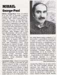 MIHAIL GEORGE PAUL - facsimil din Enciclopedia artistilor romani contemporani - Ed.ARC 2000 - 1999 vol. I pag.128