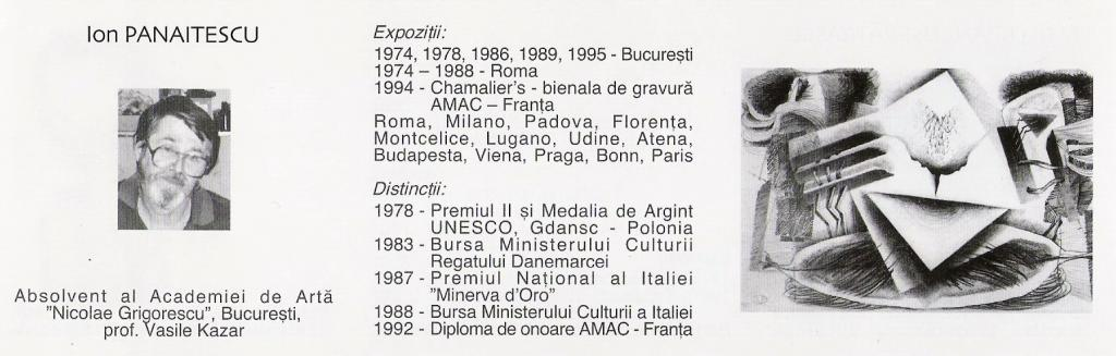 PANAITESCU ION - Catalog SALONUL NATIONAL DE ARTA 2001