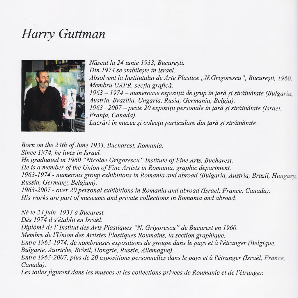 "HARRY GUTTMAN in ""Traditie si modernitate in pictura romaneasca"" de Georgeta Djordjecvic 2009"