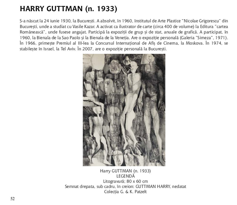 "Harry GUTTMAN in Albumul ""Intre traditionalism si avangarda"""